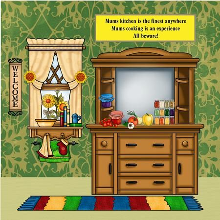 Clipart kitchen kitchen scene. Card gallery
