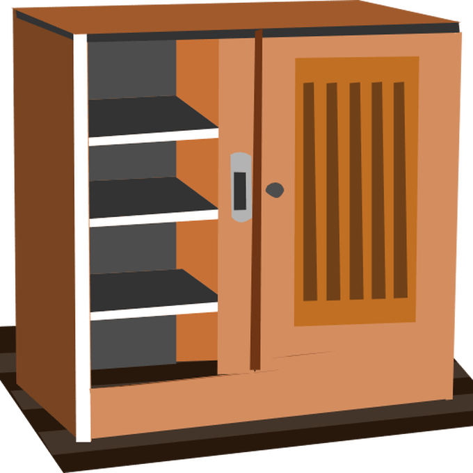 Kitchen clipart kitchen cabinet. Scene pencil and in