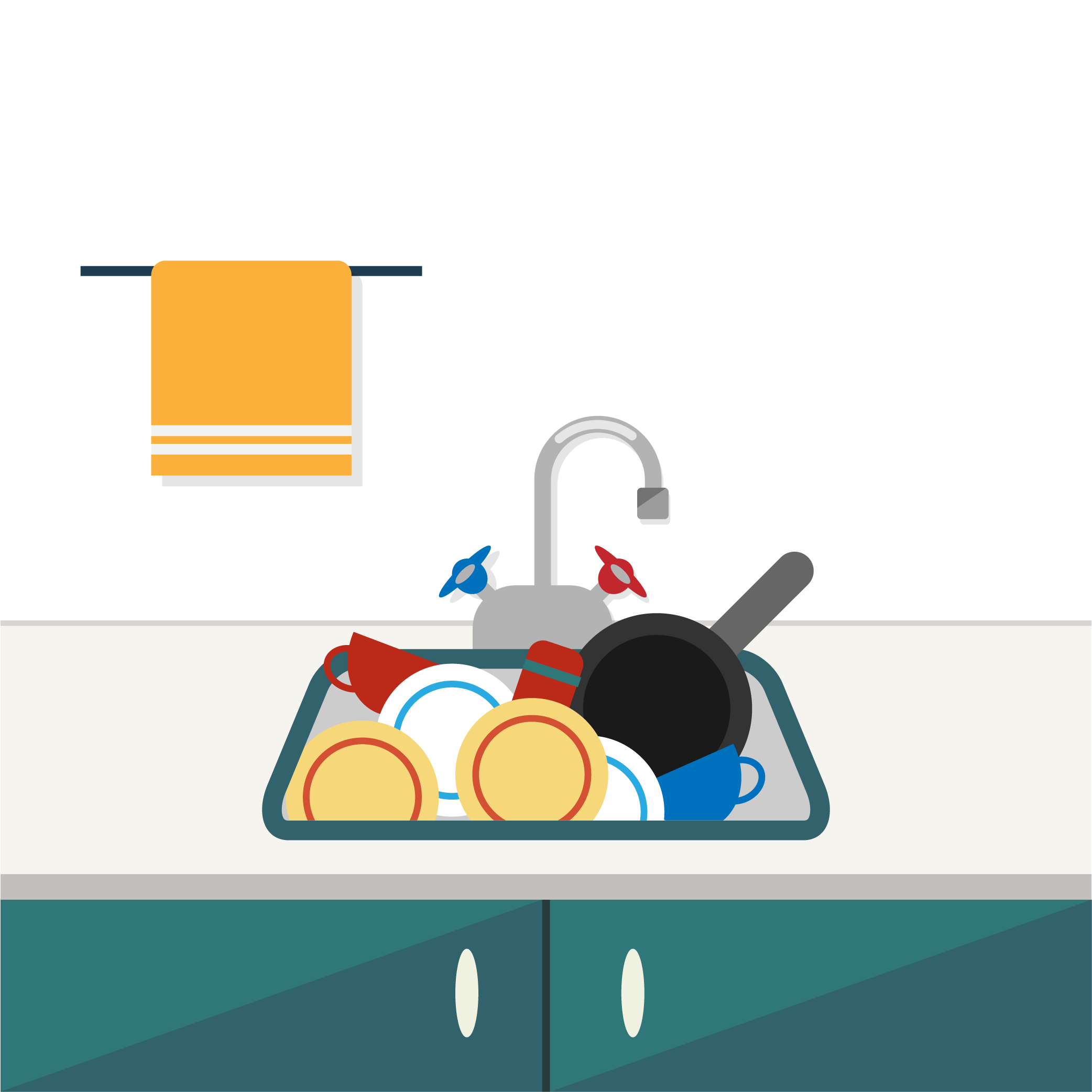 Towel sink cartoon transprent. Clipart kitchen kitchen scene