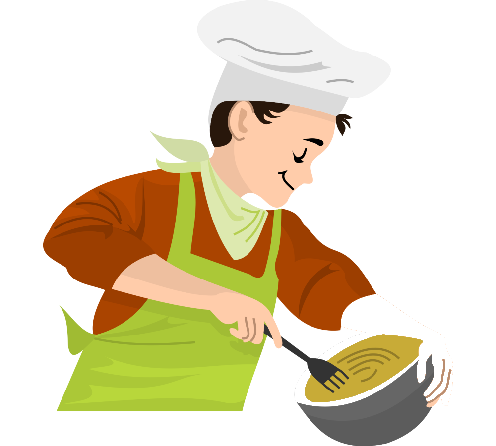 Chef clip art oil. Cooking clipart covered food