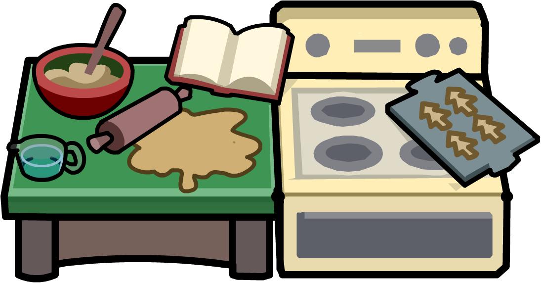 Make and bake club. Kitchen clipart kitchen unit