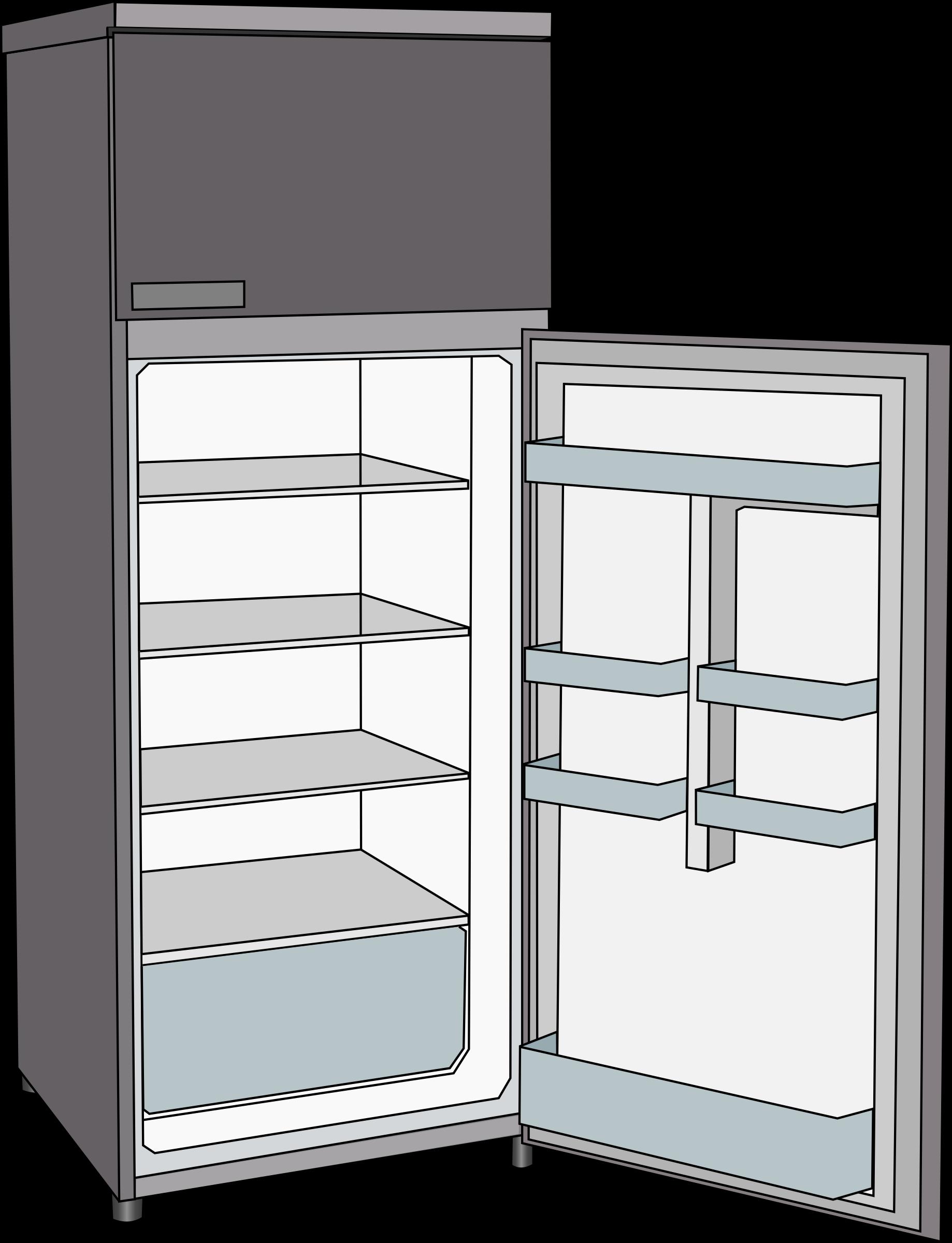 Cool clipart freezer. Frigorifero refrigerator big image