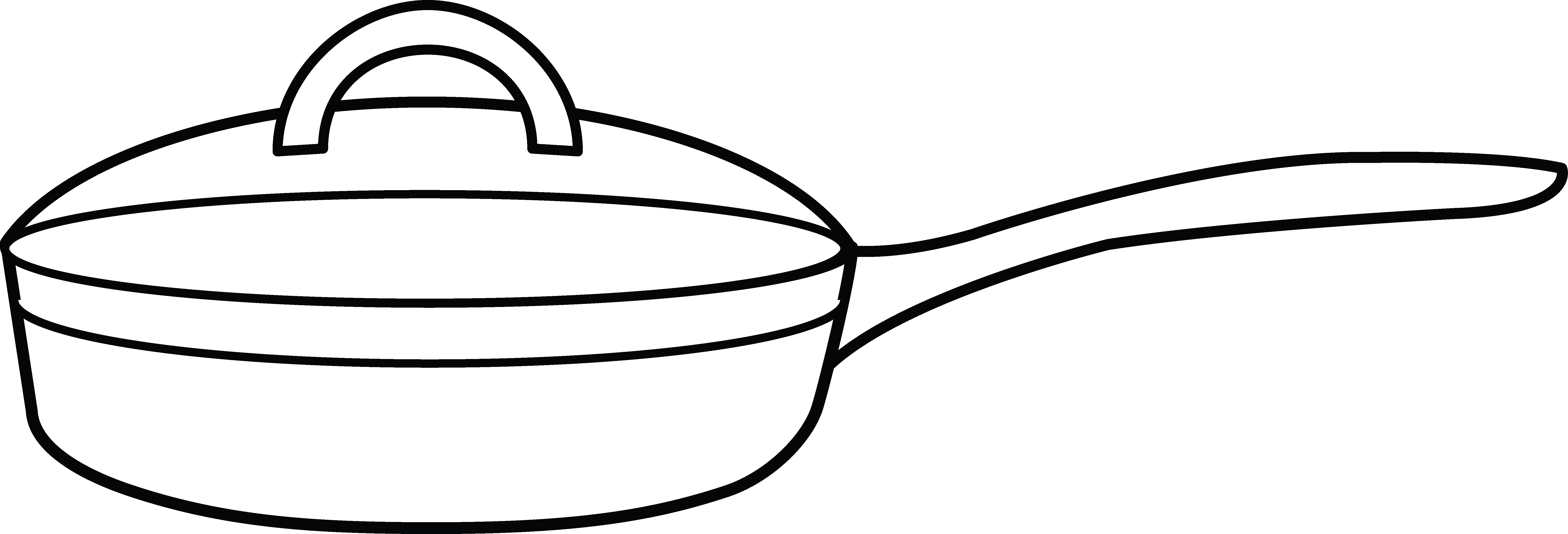 Frying pan coloring page. Cooking clipart fry cook