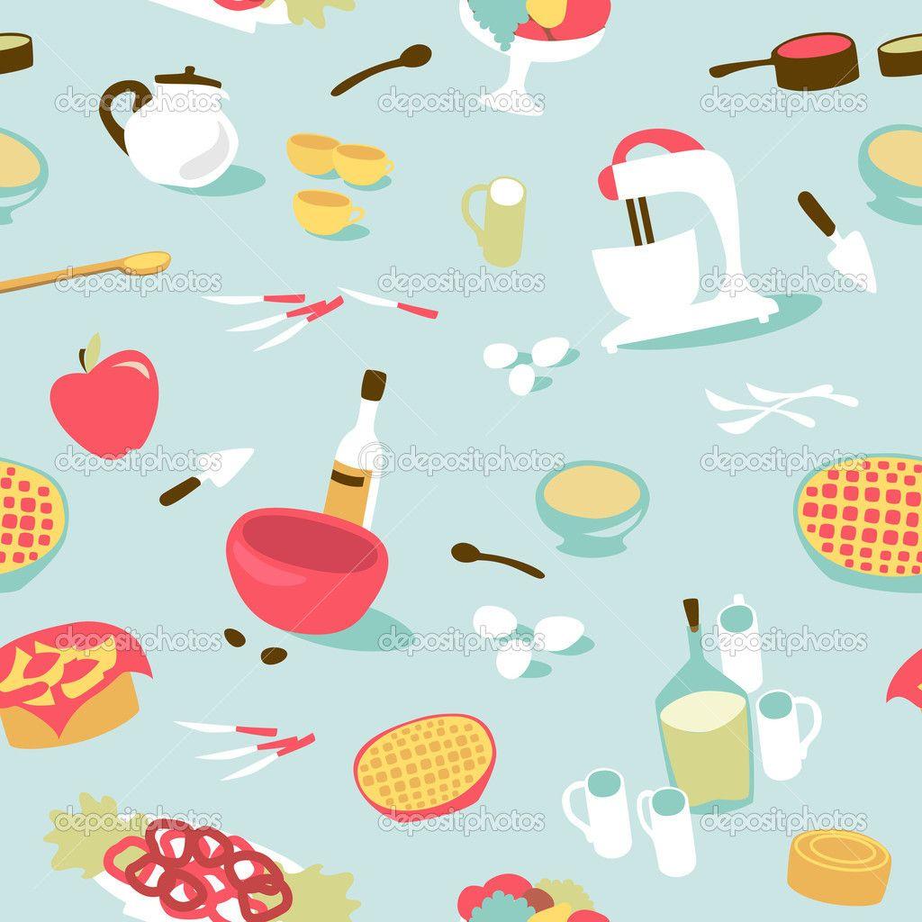 Wallpaper patterns and google. Clipart kitchen pattern