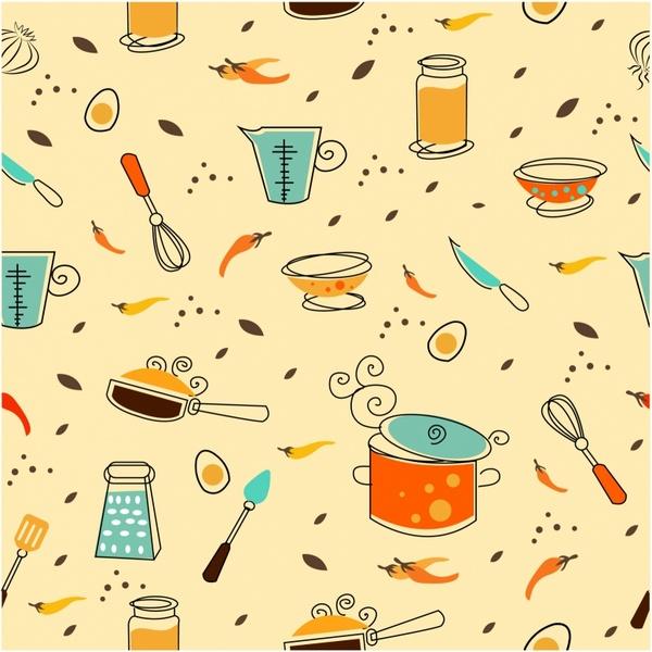 Clipart kitchen pattern. Free download clip art