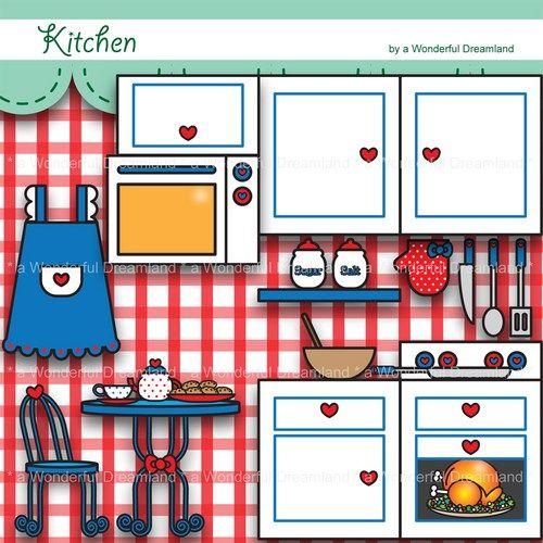 Digital clip art pdf. Clipart kitchen printable