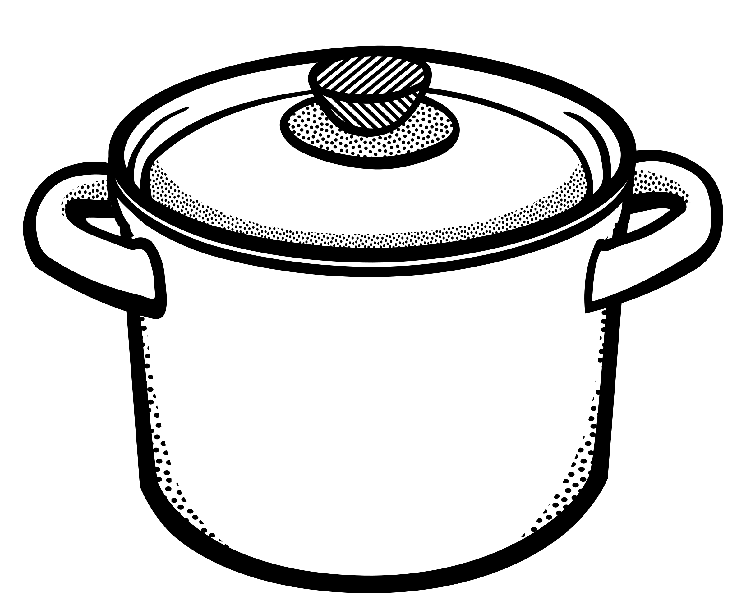 Clipart kitchen printable. Cooking pot lineart big