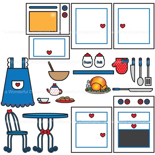 Free house cliparts download. Clipart kitchen printable