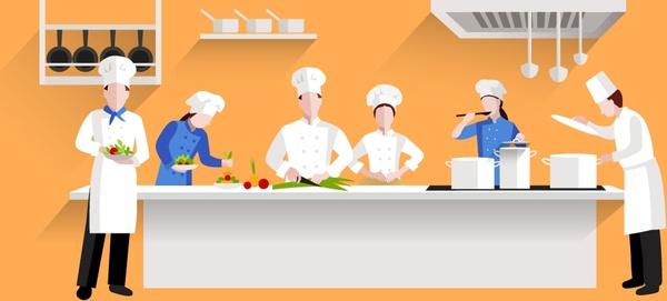 Activities design with chef. Restaurants clipart restaurant kitchen