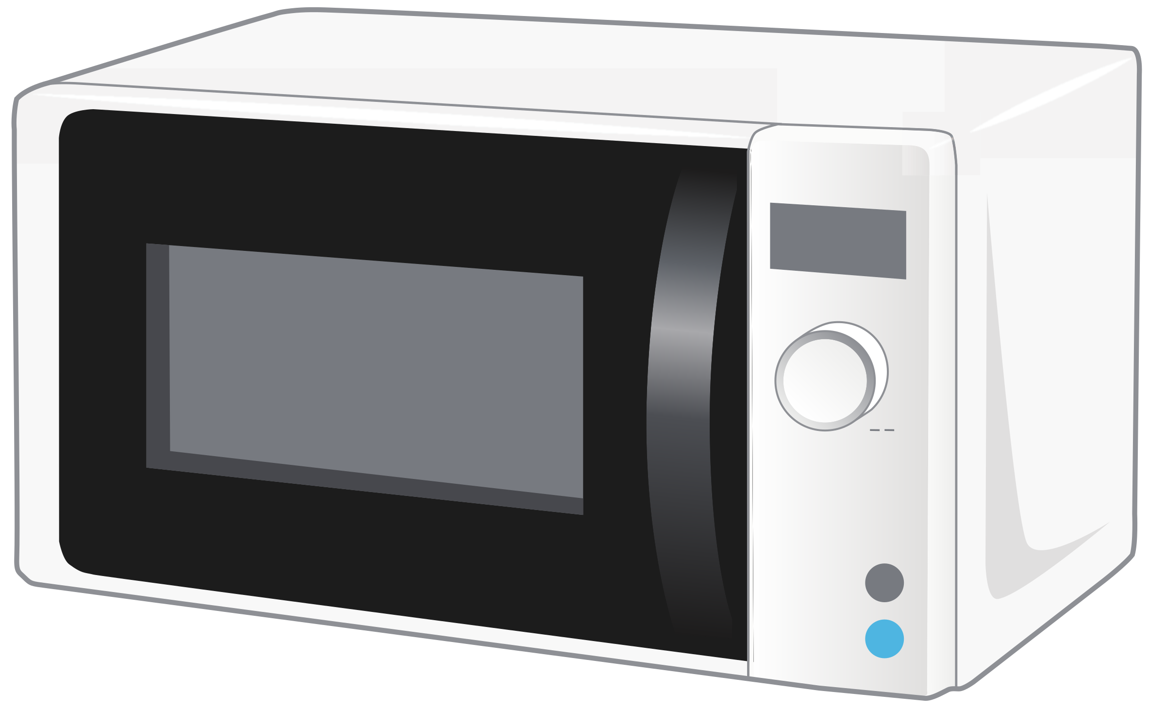 Clipart - Simple microvawe oven - 3D view