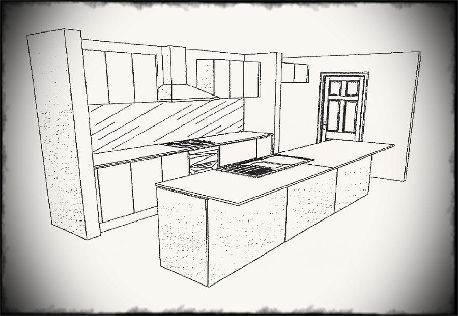 Kitchen clipart kitchen layout. Download drawing simple design