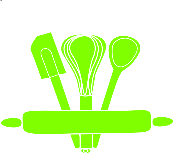 Green utensils clip art. Clipart kitchen spatula