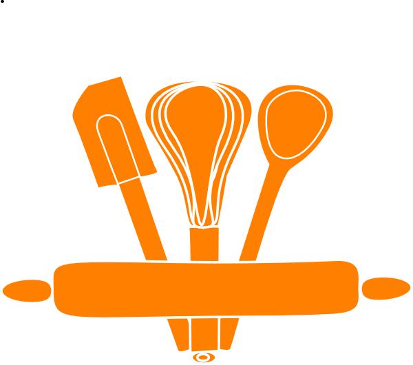 Clipart kitchen spatula. Orange utensils clip art