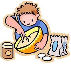 Kids cooking panda free. Clipart kitchen student
