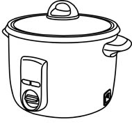 Clipart kitchen thing. Cooking black and white