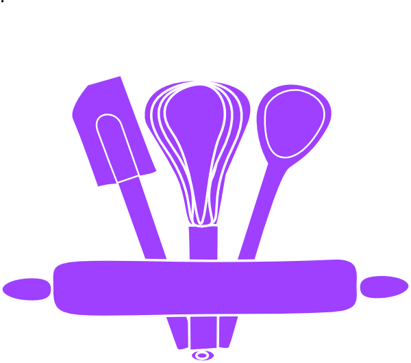 Families clipart cooking. Purple kitchen utensils clip