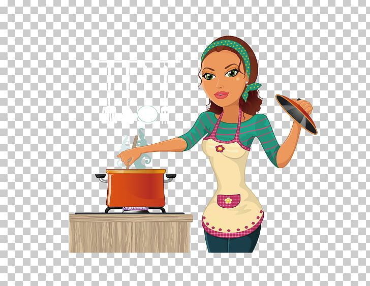 The cooking chef png. Clipart kitchen woman