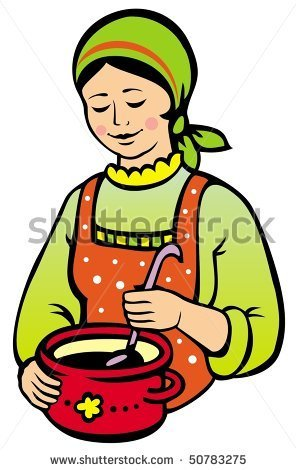 Clipart kitchen woman. Cooking panda free images