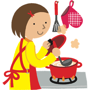 Clipart kitchen woman. Cooking cliparts of free