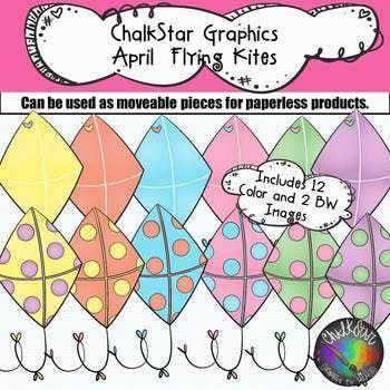 Colorful kites clip art. Clipart kite april