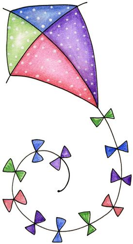 Clipart kite beach. Clip art a day