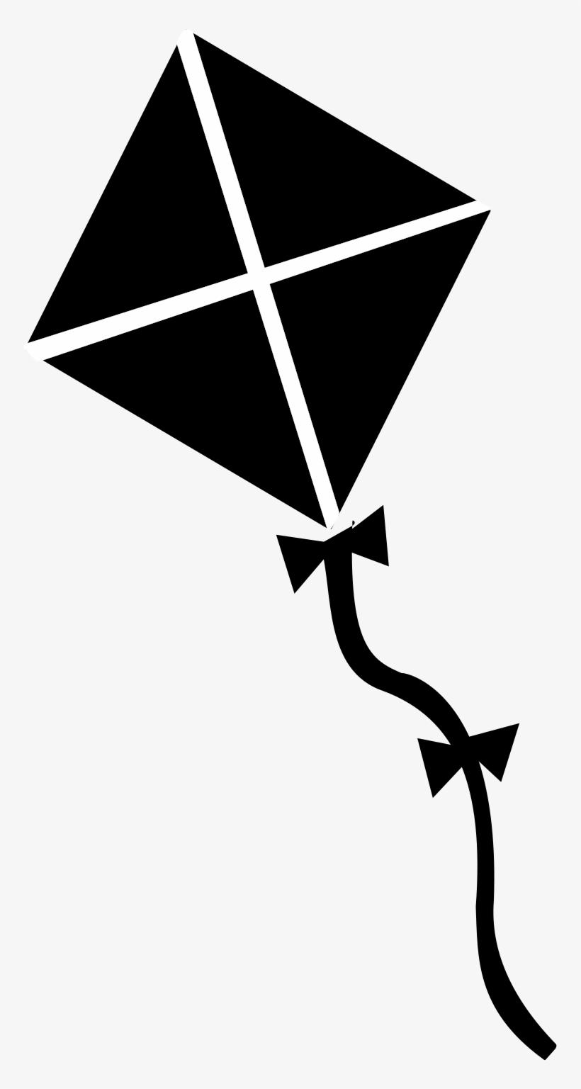 Kite clipart big kite. Black and white image