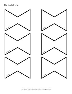 Tail pattern the education. Kite clipart bow