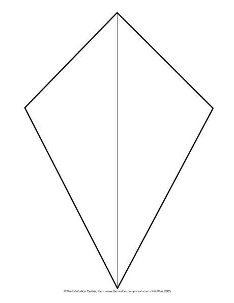 Kite clipart kite shape. Template for spring bulletin