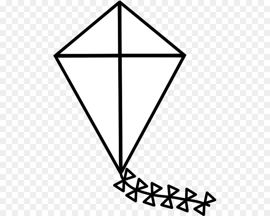 Black line background triangle. Clipart kite clip art