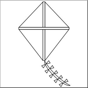 Kite clipart kite shape. Clip art basic shapes