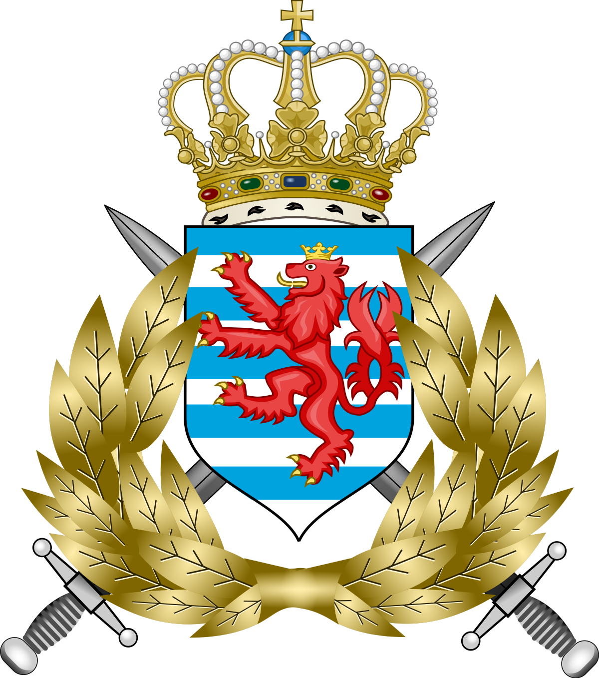 Luxembourg army wikipedia . Pistol clipart military police