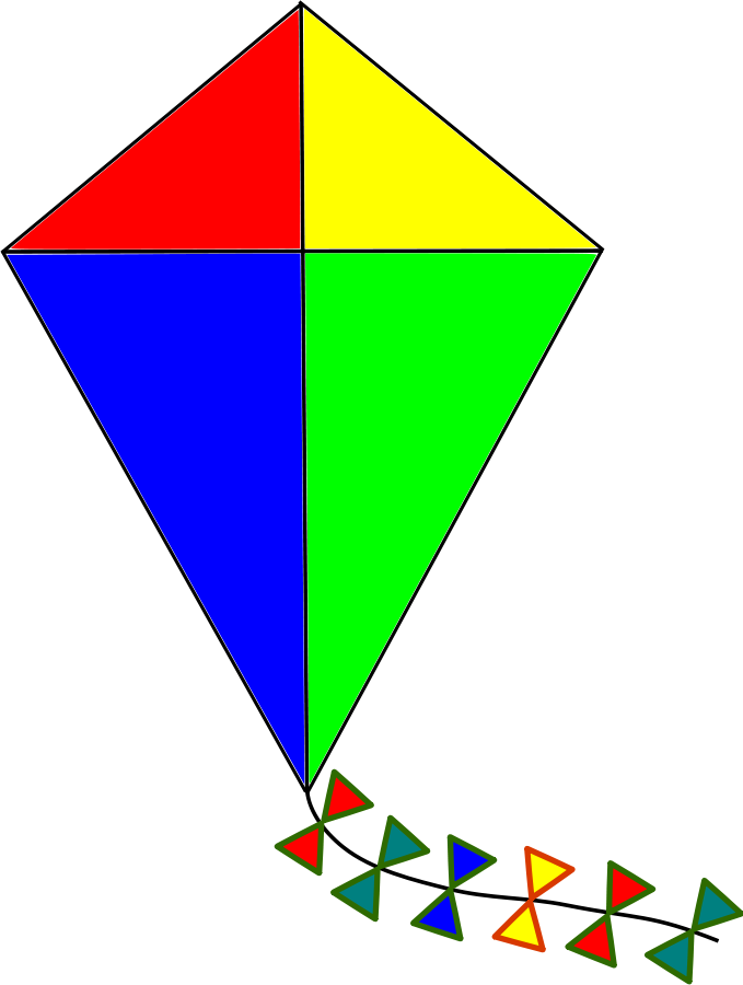Clip art cliparts co. Kite clipart kite shape