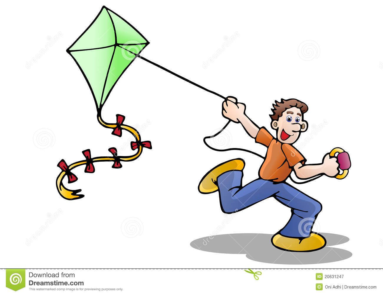 Free download best . Clipart kite flying high