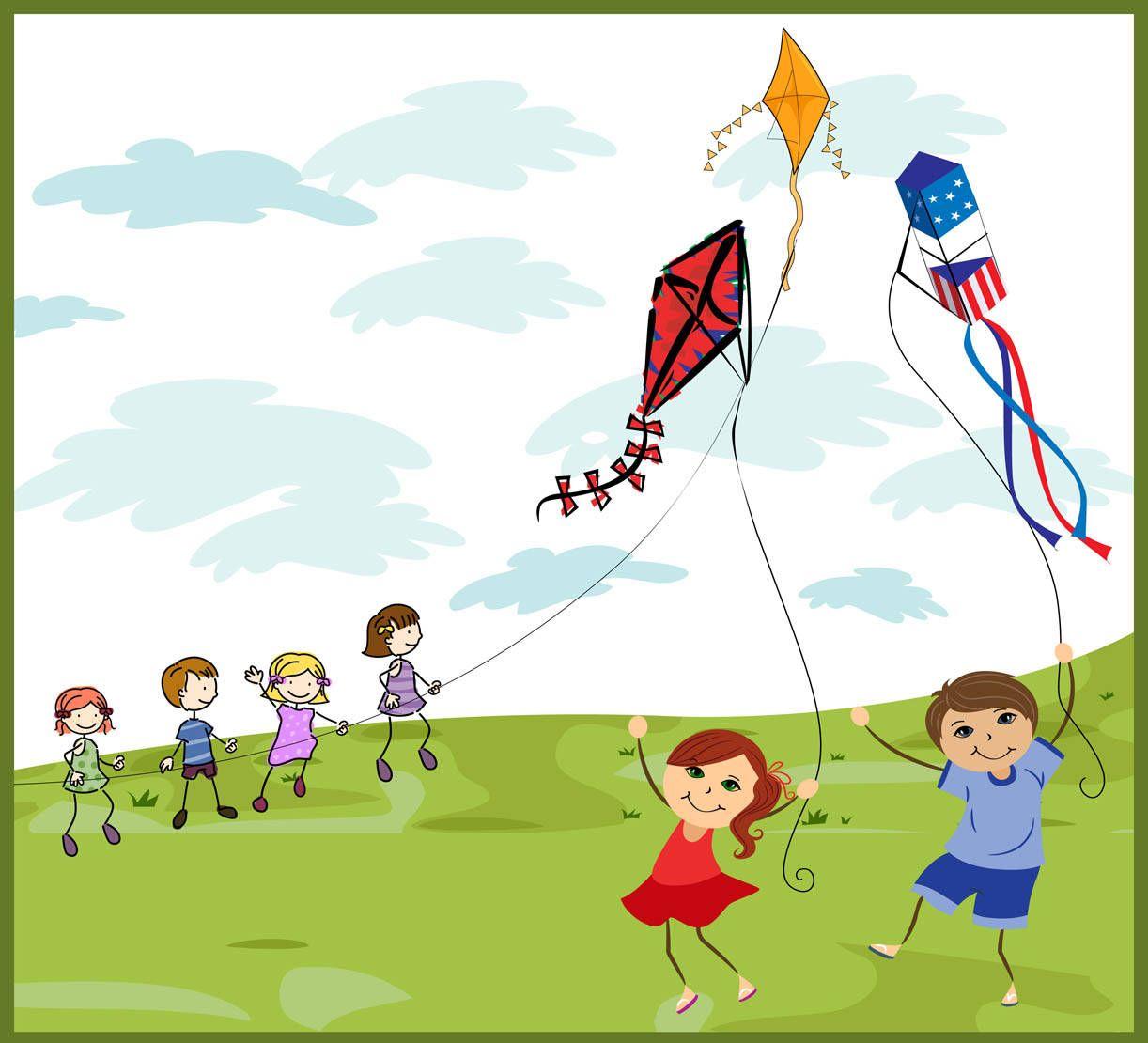 Kite clipart group. Kites clip art doodles