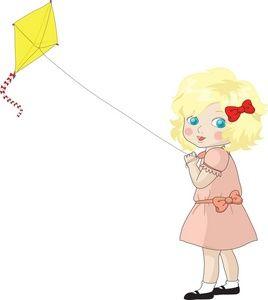 Flying kites stories for. Kite clipart girl holding