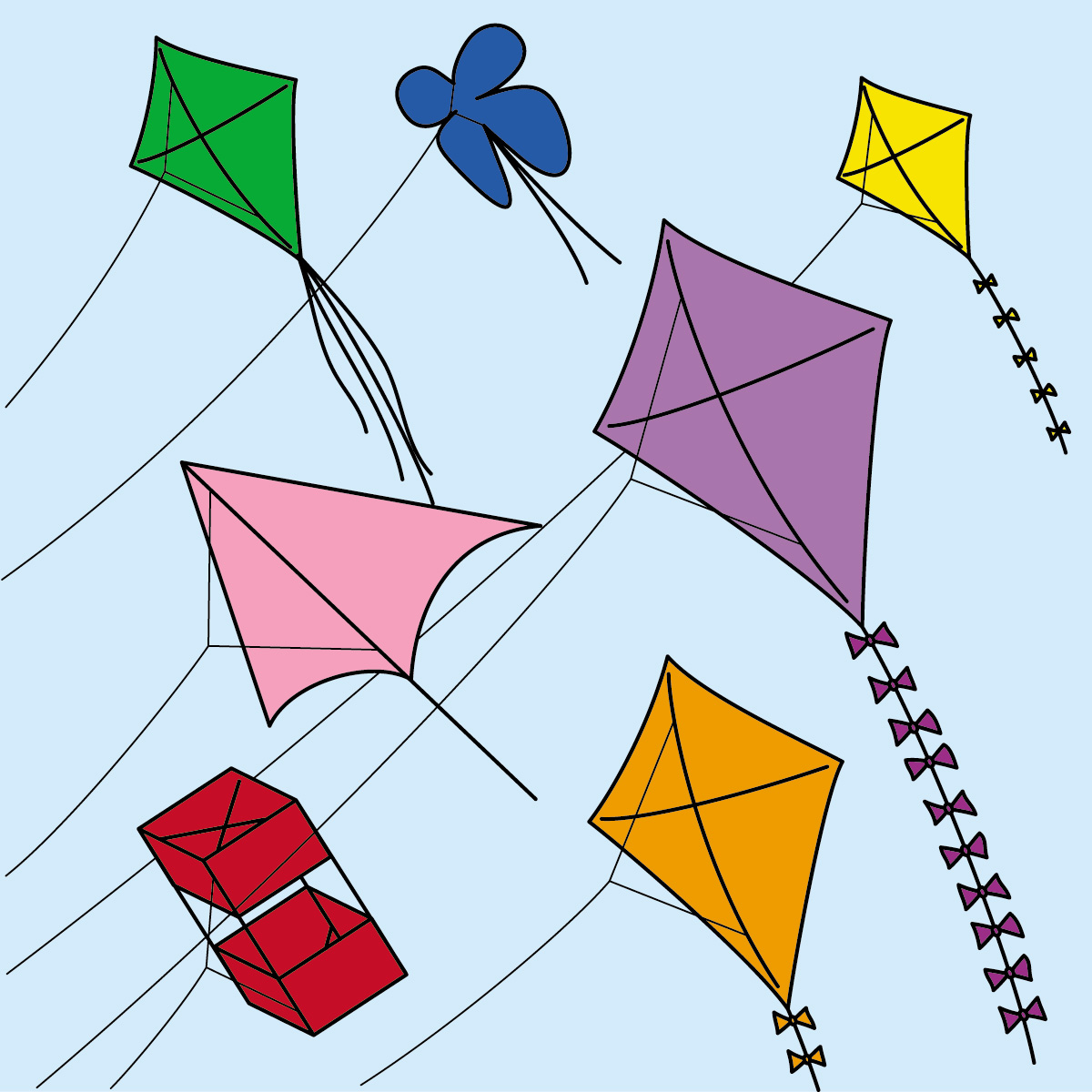 Kite clipart group.  kites clipartlook