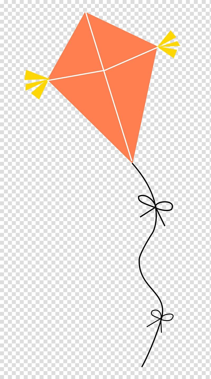 And yellow illustration paper. Kite clipart orange