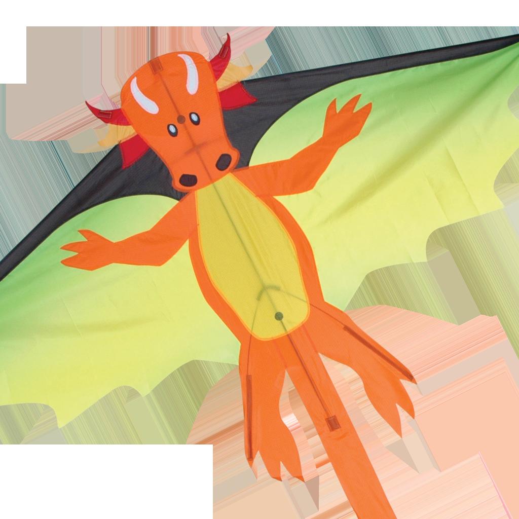 Kite clipart old. Flying orange dragon rocky