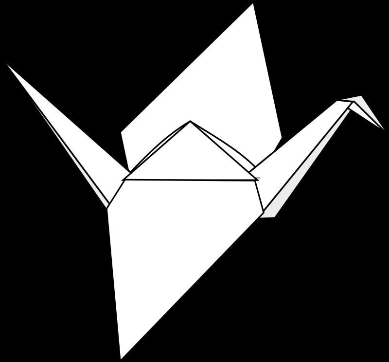 Origami crane free clip. Japanese clipart hiragana