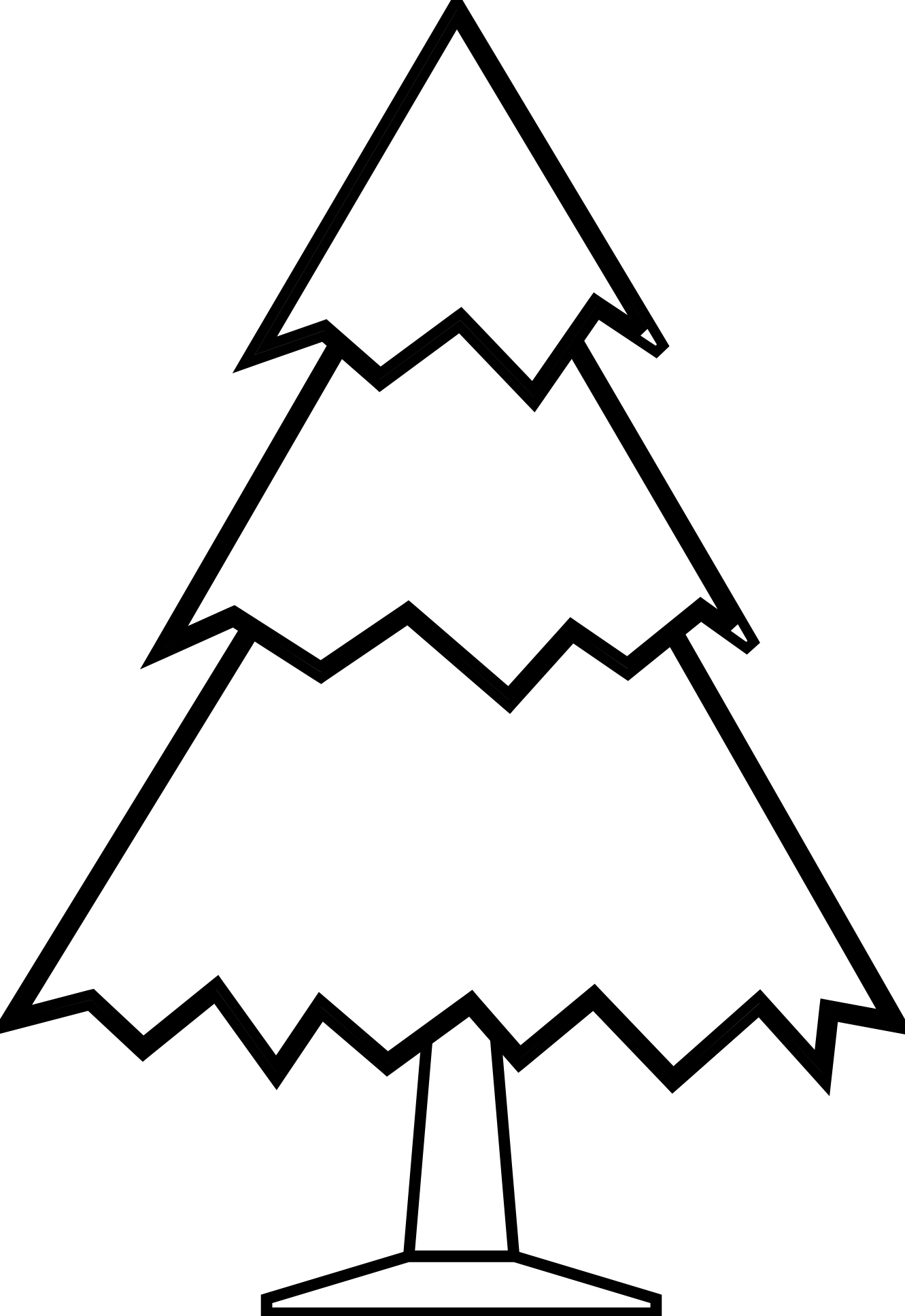 Triangle objects great blank. Winter clipart black and white