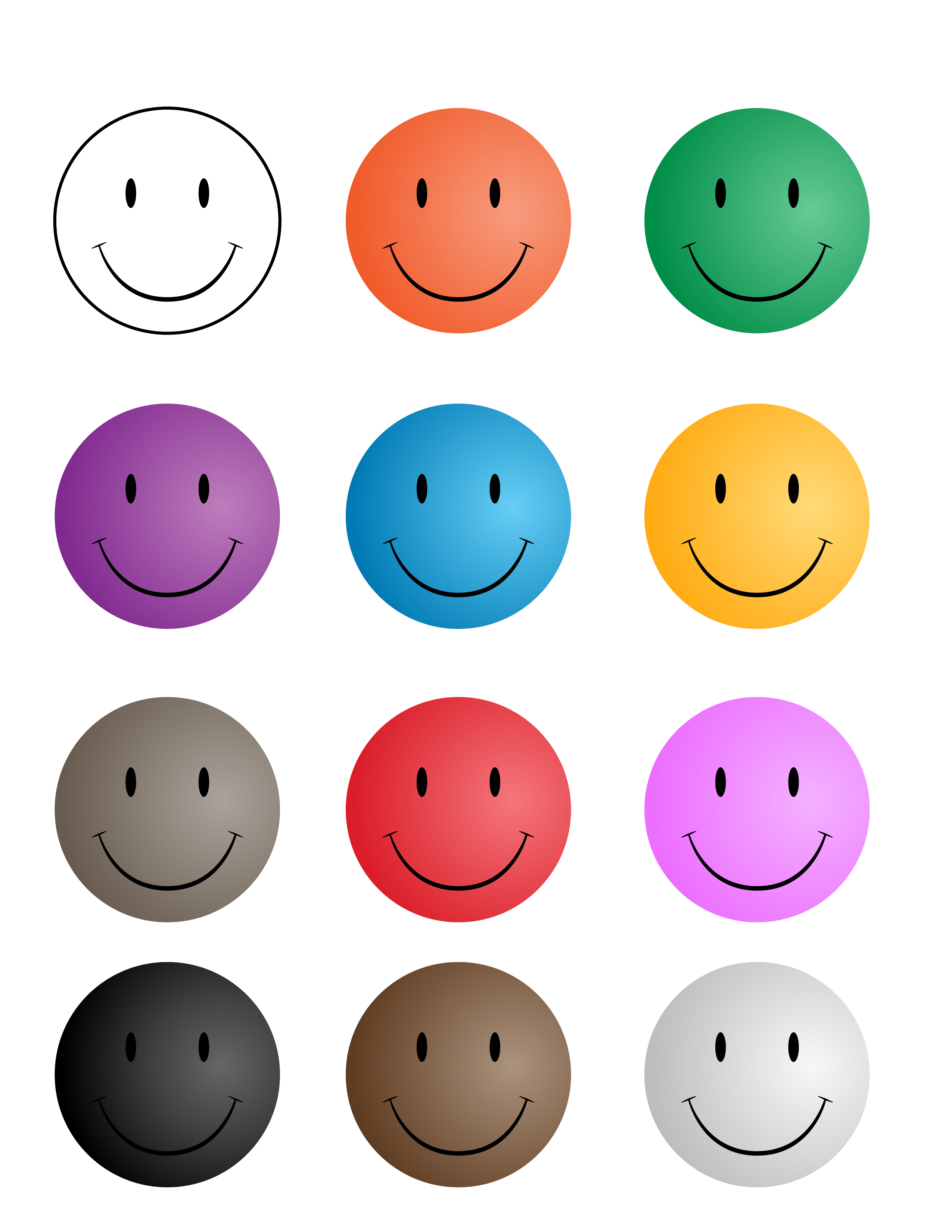 Smiley faces w printables. Feelings clipart face student