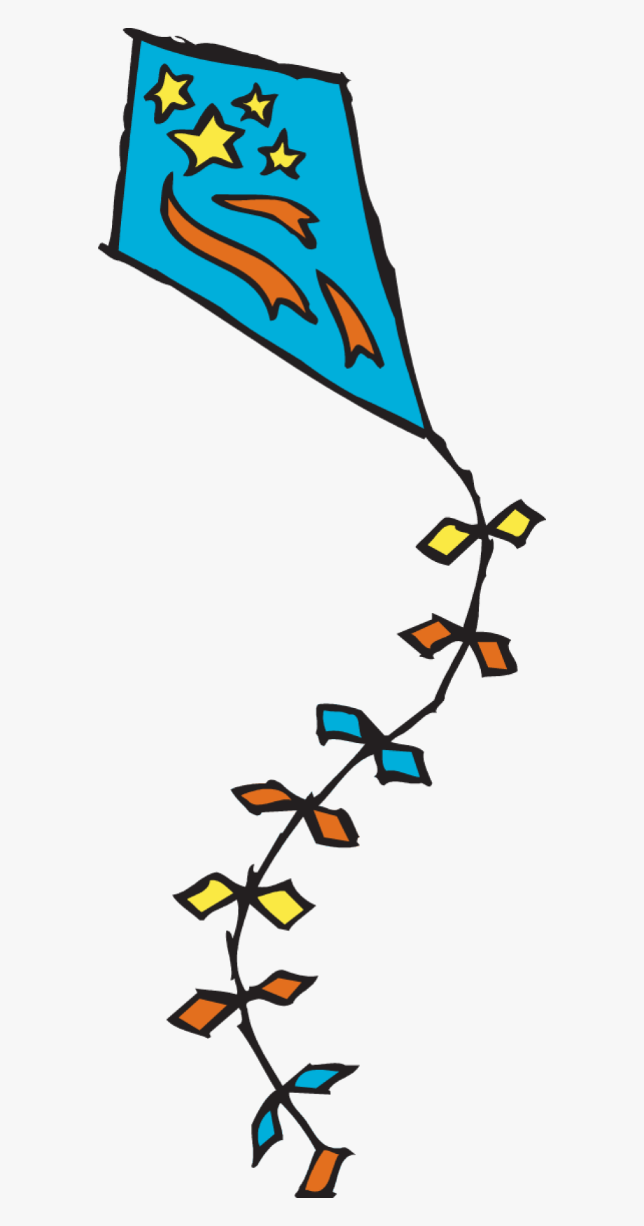 Long free . Windy clipart kite