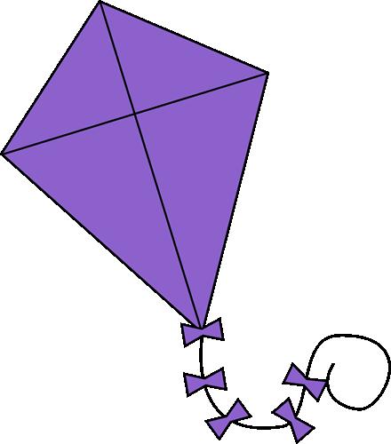 Clip art image library. Kite clipart purple
