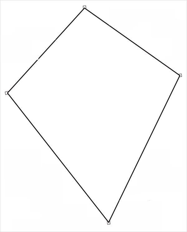 Kite clipart kite shape. Template to print fun