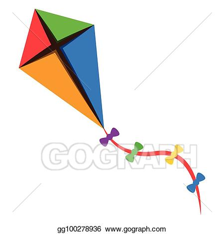Vector illustration isolated eps. Kite clipart toy