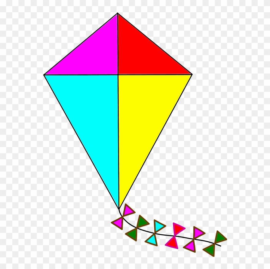 Image with transparent . Kite clipart clear background