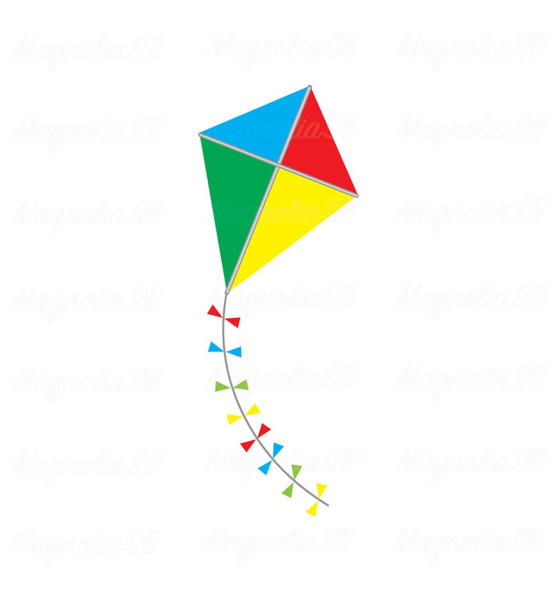 Kite clipart vector. Svg dxf cutting shape