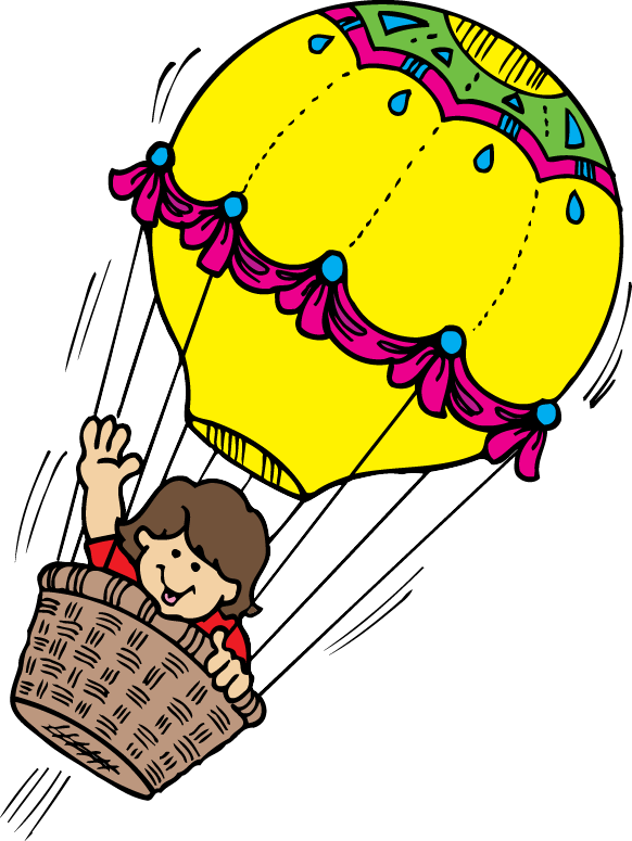 vintage hot balloon. Windy clipart air