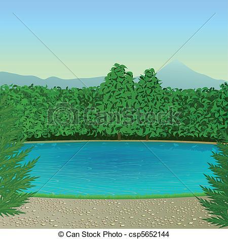 Clipart lake. Clip art free panda