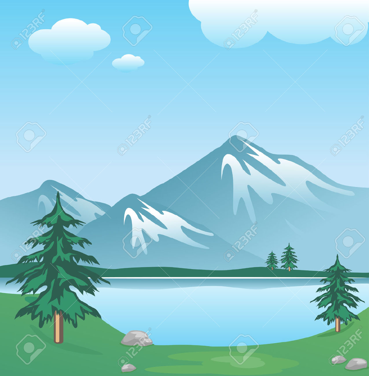 Clipart winter lake. Techlodia image clipartix